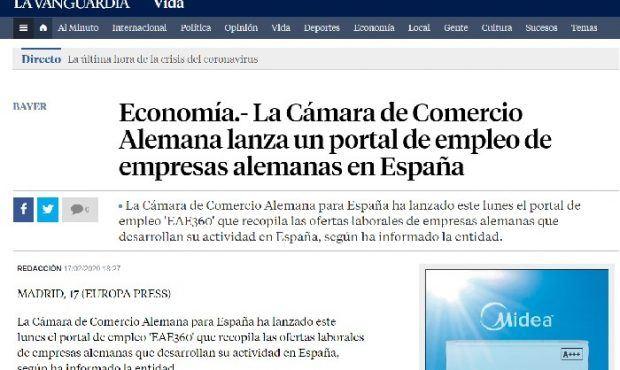 La Cámara de Comercio Alemana lanza un portal de empleo de empresas alemanas en España