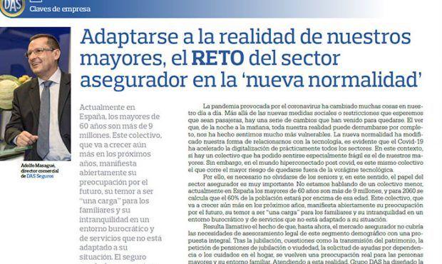 Adaptarse a la realidad de nuestros mayores, el RETO del sector asegurador en la 'nueva normalidad'