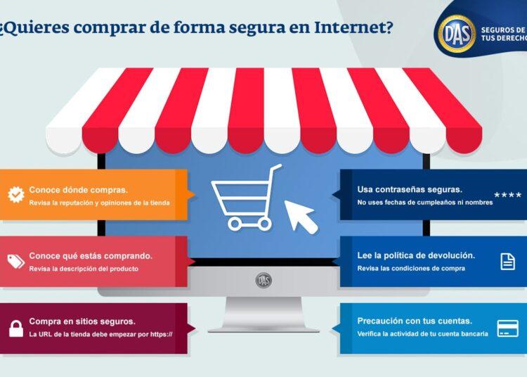 infografía comprar internet seguro